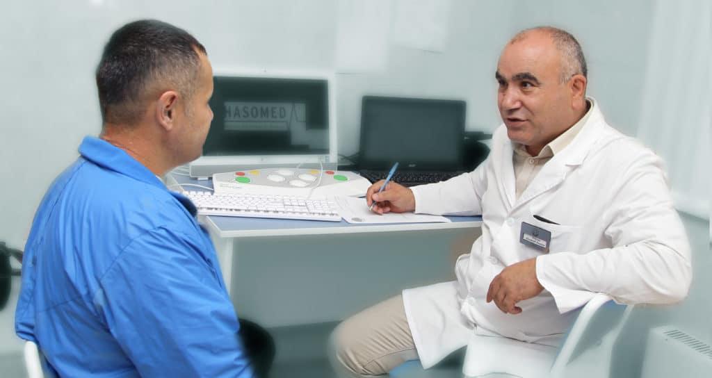 Подтверждение диагноза слабого притока крови к члену